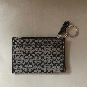 Coach small money or card holder with key ring